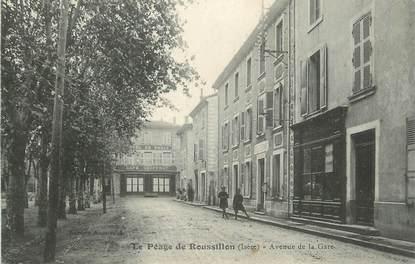 """CPA FRANCE 38 """"Le Péage de Roussillon, Avenue de la gare"""" / HOPITAL TEMPORAIRE"""
