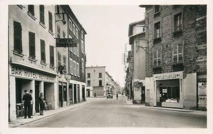 """CPA FRANCE 38 """"Le Péage de Roussillon, Rue Grande et Place de la Halle"""""""