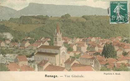 """CPA FRANCE 38 """"Renage, Vue générale"""""""