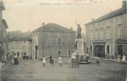 """CPA FRANCE 38 """"Roybon, Place St Romme"""""""