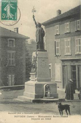 """CPA FRANCE 38 """"Roybon, Monument St Romme'"""