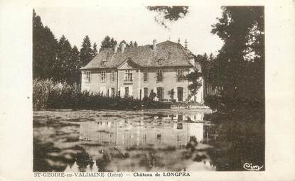 "CPA FRANCE 38 ""St Geoire en Valdaine, Le château de Longpra"""