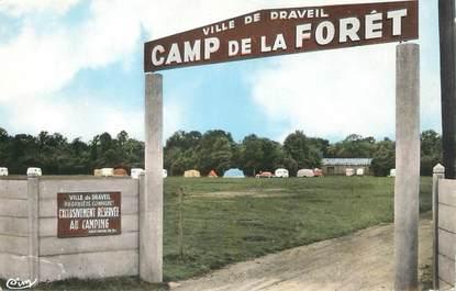 """CPSM FRANCE 91 """" Mainville - Draveil, Le Camping de la Forêt"""""""