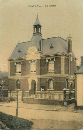"CPA FRANCE 80 ""Beauval, La Mairie"""