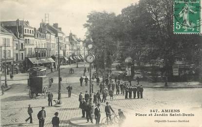 """CPA FRANCE 80 """" Amiens, Place et Jardin St Denis"""""""