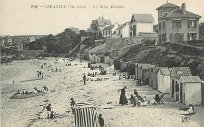 "CPA FRANCE 29 "" Carantec, La Grève Blanche"""