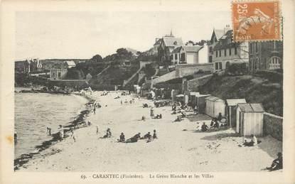 """CPA FRANCE 29 """" Carantec, La Grève Blanche et les villas"""""""
