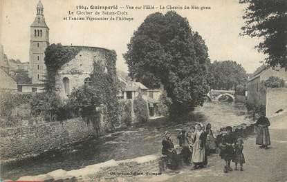 """CPA FRANCE 29 """" Quimperlé, Vue sur l'Ellé, Le chemin du Min Guen"""""""