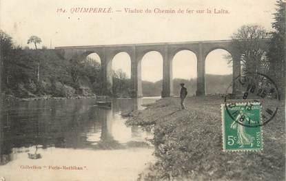 """CPA FRANCE 29 """" Quimperlé, Viaduc du chemin de fer sur l'Aïta'"""