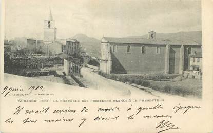 """CPA FRANCE 13 """" Aubagne, La chapelle des Pénitents Blancs et le Presbytère"""""""