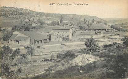 "CPA FRANCE 84 ""Apt, Usine d'ocre"""