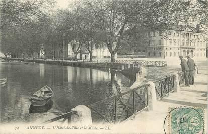 """CPA FRANCE 74 """"Annecy, L'Hôtel de Ville et le Musée"""""""