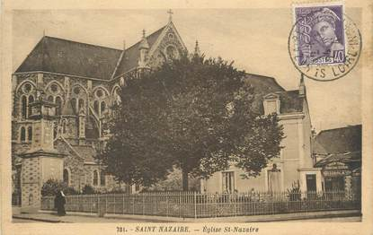"CPA FRANCE 44 "" St Nazaire, Eglise"""