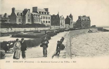 """CPA FRANCE 29 """" Roscoff, Le Boulevard Carnot et les villas"""""""