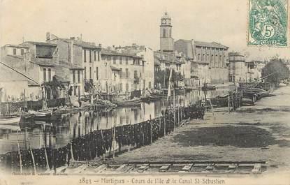 """CPA FRANCE 13 """"Martigues, Cours de l'Ile et le Canal St Sabastien"""""""