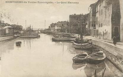"CPA FRANCE 13 ""Martigues, Le Quai Marceau"""