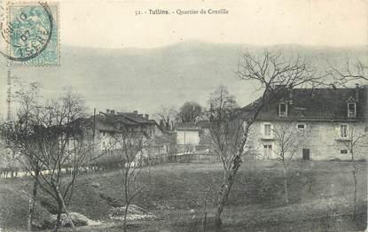 "CPA FRANCE 38 ""Tullins, Quartier de Cruzille"""