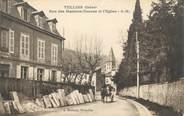 """38 Isere CPA FRANCE 38 """"Tullins, Rue des Maisons Neuves et l'église"""""""