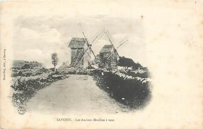 """CPA FRANCE 21 """"Savoisy, es anciens moulins à vent"""""""