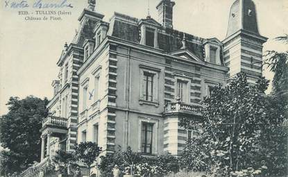 "CPA FRANCE 38 ""Tullins, Château du Pinet"""