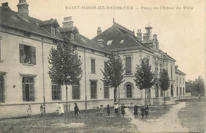 """CPA FRANCE 38 """" St Siméon de Bressieux, Place de l'Hôtel de Ville"""""""