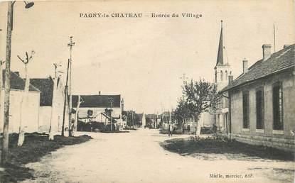 """CPA FRANCE 21 """"Pagny le Chateau, entrée du village"""""""