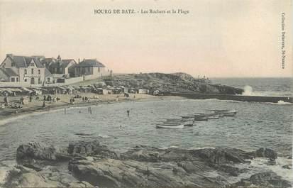 """CPA FRANCE 44 """" Bourg de Batz, Les Rochers et la Plage"""""""