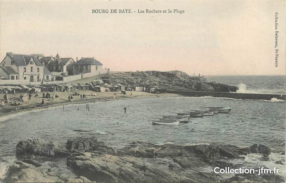 Cpa france 44 bourg de batz les rochers et la plage for Porte neuve chateaubriant