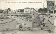 """44 Loire Atlantique CPA FRANCE 44 """" Batz, La plage St Michel et le menhir de Pierre Longue"""""""