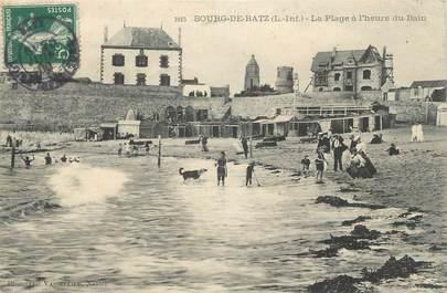 """CPA FRANCE 44 """" Bourg de Batz, La Plage à l'heure du bain"""""""
