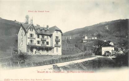 """CPA FRANCE 38 """" St Pierre de Chartreuse, Hôtel du Grand Som"""""""