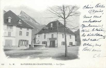"""CPA FRANCE 38 """" St Pierre de Chartreuse, La place"""""""