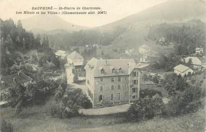 """CPA FRANCE 38 """" St Pierre de Chartreuse, Les Hôtels et les Villas"""""""