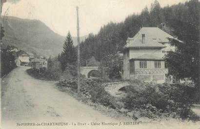 """CPA FRANCE 38 """" St Pierre de Chartreuse, Usine électrique J. Sestier"""""""