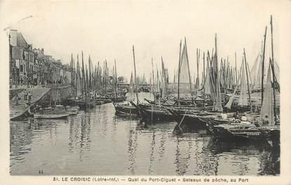 """CPA FRANCE 44 """" Le Croisic, Les quais du Port Ciguet, Bâteaux de pêche"""""""