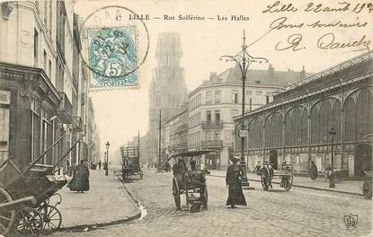 """CPA FRANCE 59 """"Lille, Rue Solférino"""""""