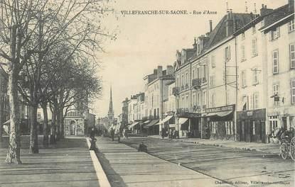 """CPA FRANCE 69 """" Villefranche sur Saône, Rue d'Anse"""""""