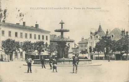 """CPA FRANCE 69 """" Villefranche sur Saône, Place du Promenoir"""""""