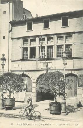 """CPA FRANCE 69 """" Villefranche sur Saône, Hôtel de Ville"""""""