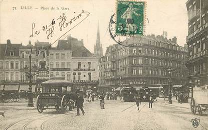 "CPA FRANCE 59 ""Lille, Place de la Gare"""
