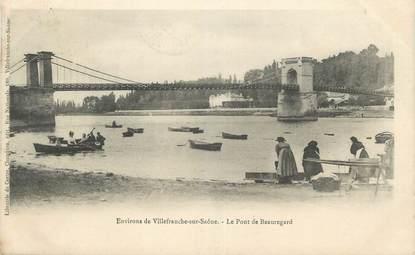 """CPA FRANCE 69 """" Environs de Villefranche sur Saône, Le Pont de Beauregard"""" / LAVEUSES"""