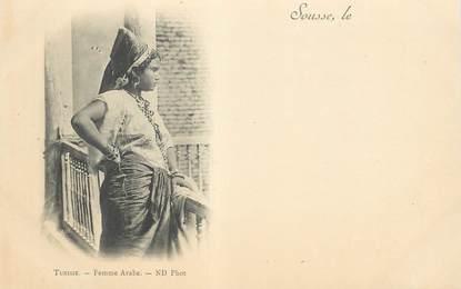 "CPA TUNISIE ""Sousse, femme"""