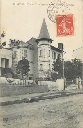 "CPA FRANCE 63 "" Chatelguyon, Villa Jeanne d'Arc"""