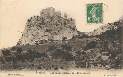 """CPA FRANCE 13 """" Eyguières, Ancien château féodal de la Reine Jeanne"""""""