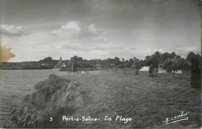 """CPSM FRANCE 70 """" Port sur Saône, La plage"""""""