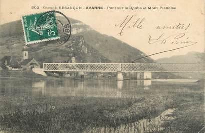 """CPA FRANCE 25 """"Avanne, Pont sur le Doubs et le Mont Planoise"""""""