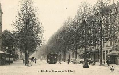 """CPA FRANCE 59 """"Lille, Bld de la Liberté"""" / TRAMWAY"""
