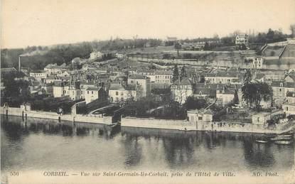 """CPA FRANCE 91 """" Corbeil, Vue sur St Germain les Corbeil prise de l'Hôtel de Ville"""""""