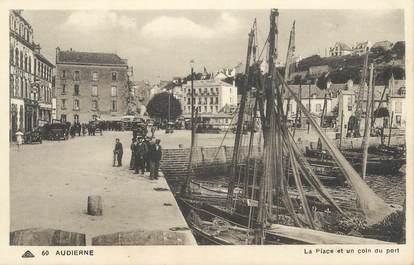 """CPA FRANCE 29 """" Audierne, La place et un coin du port"""""""