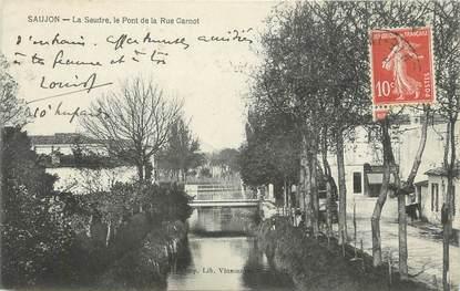 "CPA FRANCE 17 "" Saujon, La Seudre, le pont de la Rue Carnot"""
